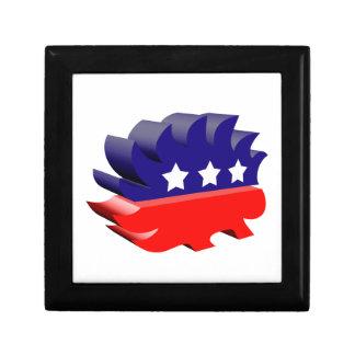 Libertarian porcupine 3D Trinket Box