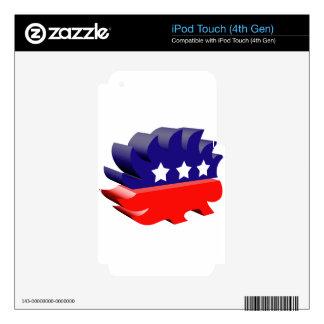 Libertarian porcupine 3D iPod Touch 4G Decals