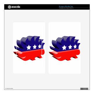 Libertarian porcupine 3D Kindle Fire Skin