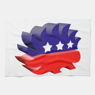 Libertarian porcupine 3D Hand Towel