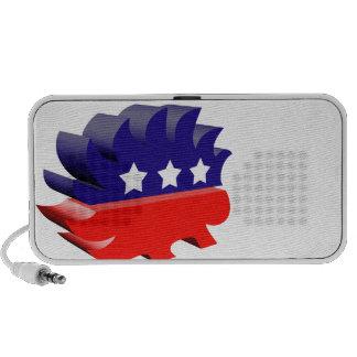 Libertarian porcupine 3D Mini Speakers