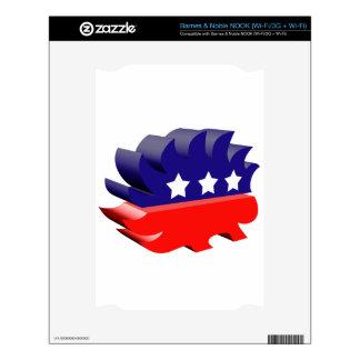 Libertarian porcupine 3D NOOK Skin
