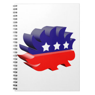 Libertarian porcupine 3D Notebooks