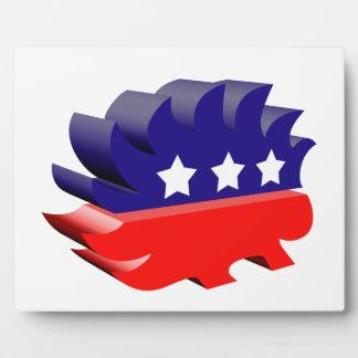 Libertarian porcupine 3D Photo Plaque