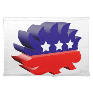 Libertarian porcupine 3D Placemats