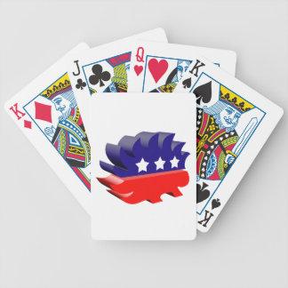 Libertarian porcupine 3D Playing Cards
