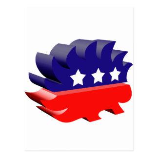 Libertarian porcupine 3D Postcard
