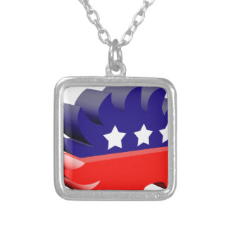 Libertarian porcupine 3D Silver Plated Necklace