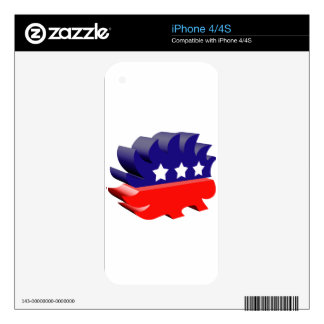 Libertarian porcupine 3D Skin For The iPhone 4S