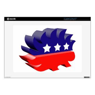 Libertarian porcupine 3D Skins For Laptops