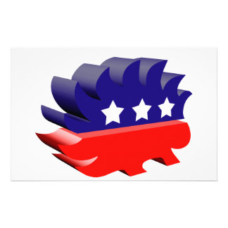 Libertarian porcupine 3D Personalized Stationery