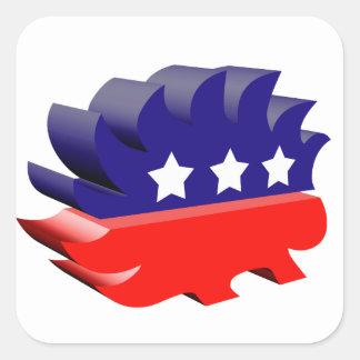 Libertarian porcupine 3D Stickers