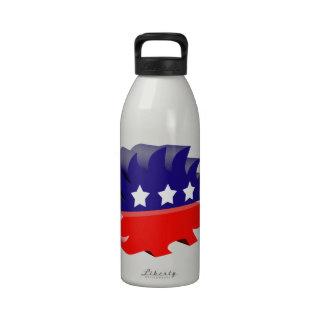 Libertarian porcupine 3D Reusable Water Bottles