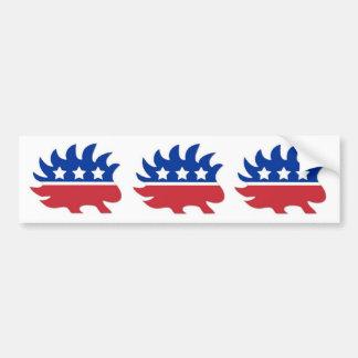 Libertarian Porcupine Bumper Sticker