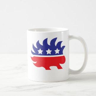libertarian porcupine classic white coffee mug