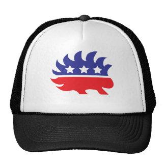 libertarian porcupine trucker hat