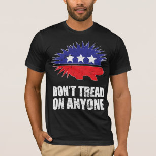 e173ceba9 Libertarian Porcupine logo Don't Tread on Anyone T-Shirt