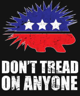 c9c941af5b07 Libertarian Porcupine logo Don't Tread on Anyone T-Shirt