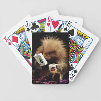 Libertarian Porcupine Mascot Civil Disobedience - Bicycle Playing Cards