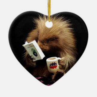 Libertarian Porcupine Mascot Civil Disobedience Ceramic Ornament