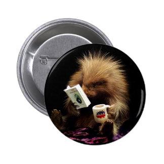 Libertarian Porcupine Mascot Civil Disobedience Pinback Button
