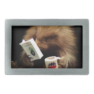 Libertarian Porcupine Mascot Civil Disobedience Rectangular Belt Buckle