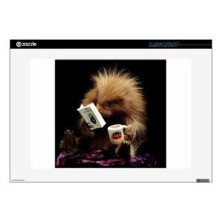 Libertarian Porcupine Mascot Civil Disobedience Skins For Laptops