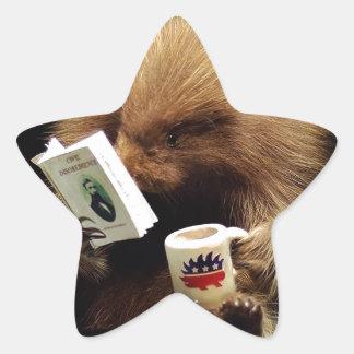 Libertarian Porcupine Mascot Civil Disobedience Star Sticker