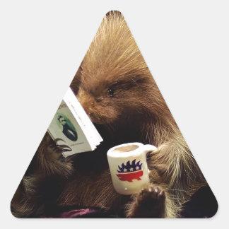 Libertarian Porcupine Mascot Civil Disobedience Triangle Sticker