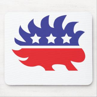 libertarian porcupine mouse pad