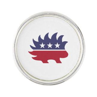 Libertarian Porcupine - -  Pin