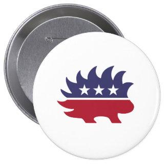 Libertarian Porcupine - -  Pinback Button