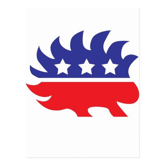 libertarian porcupine postcard