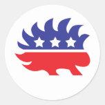 libertarian porcupine sticker