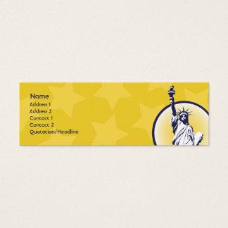 Libertarian - Skinny Mini Business Card