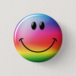 Libertarian Smiley Arcoiris - M1 Button
