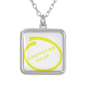 LibertarianInside Silver Plated Necklace