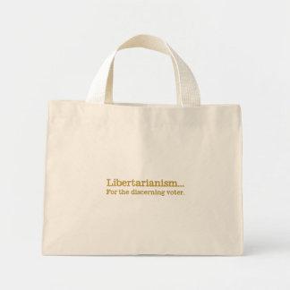 Libertarianism, la opción del votante de discernim bolsas lienzo