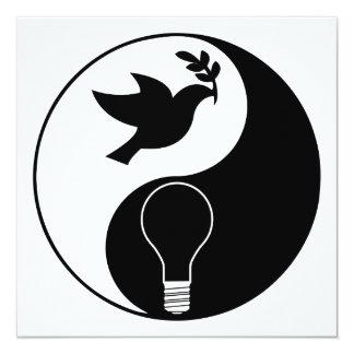 Libertarianism Logo Emphasizing Peace & Innovation Card
