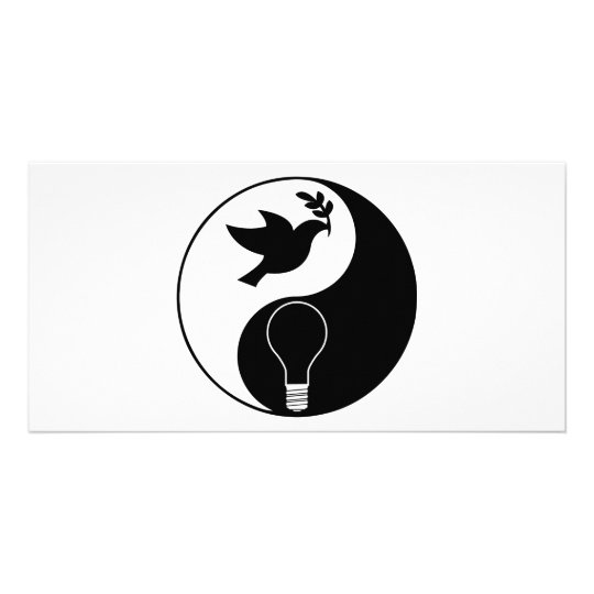 Libertarianism Logo Emphasizing Peace & Innovation Card