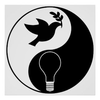 Libertarianism Logo Emphasizing Peace & Innovation Poster
