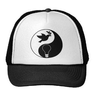 Libertarianism Logo Emphasizing Peace & Innovation Trucker Hat