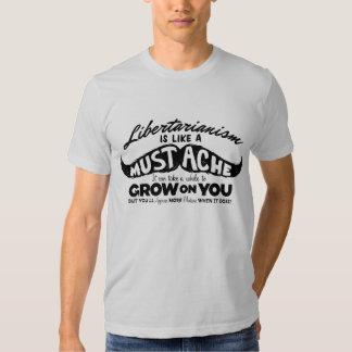Libertarianism Mustache T Shirt