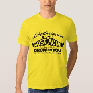 Libertarianism Mustache Tee Shirt