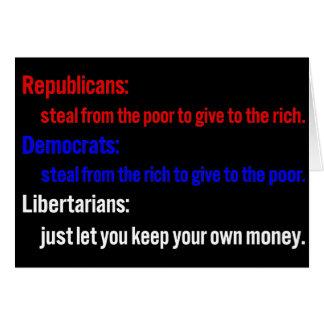 Libertarians say keep your money 1 card