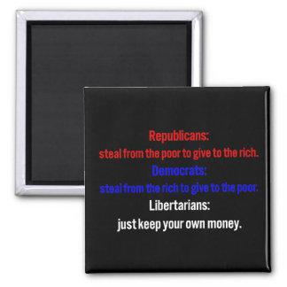 Libertarians say keep your money 1 magnet