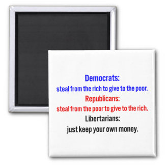 Libertarians say keep your money 2 2 inch square magnet