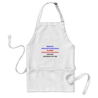 Libertarians say keep your money 2 adult apron