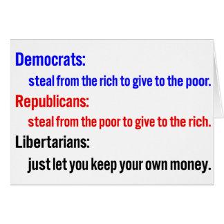 Libertarians say keep your money 2 card