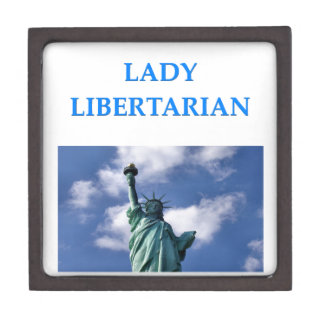 libertario de la señora caja de joyas de calidad